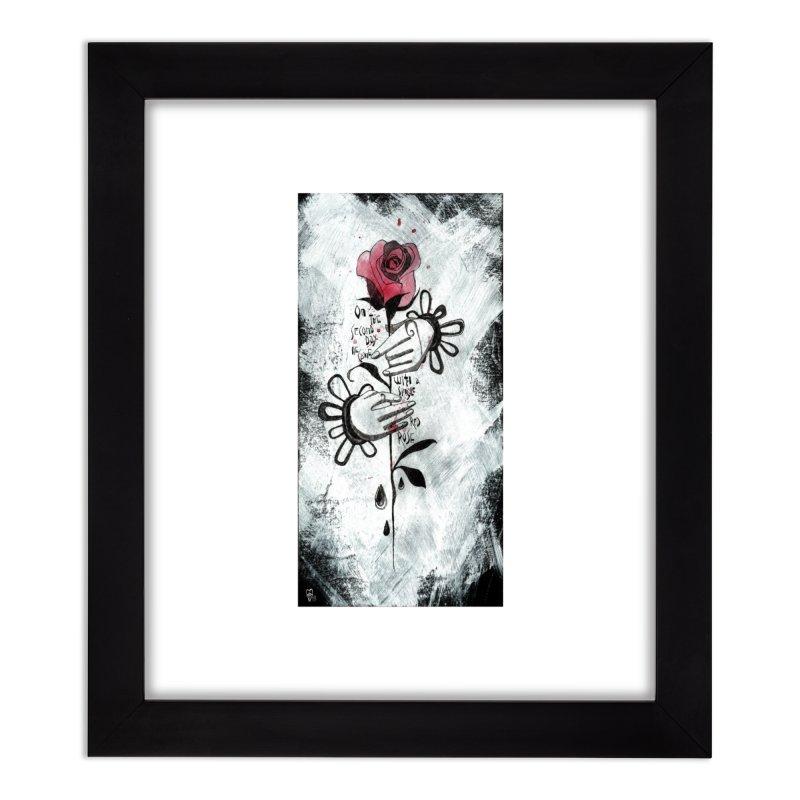 Wild Rose Home Framed Fine Art Print by ilustramar's Artist Shop