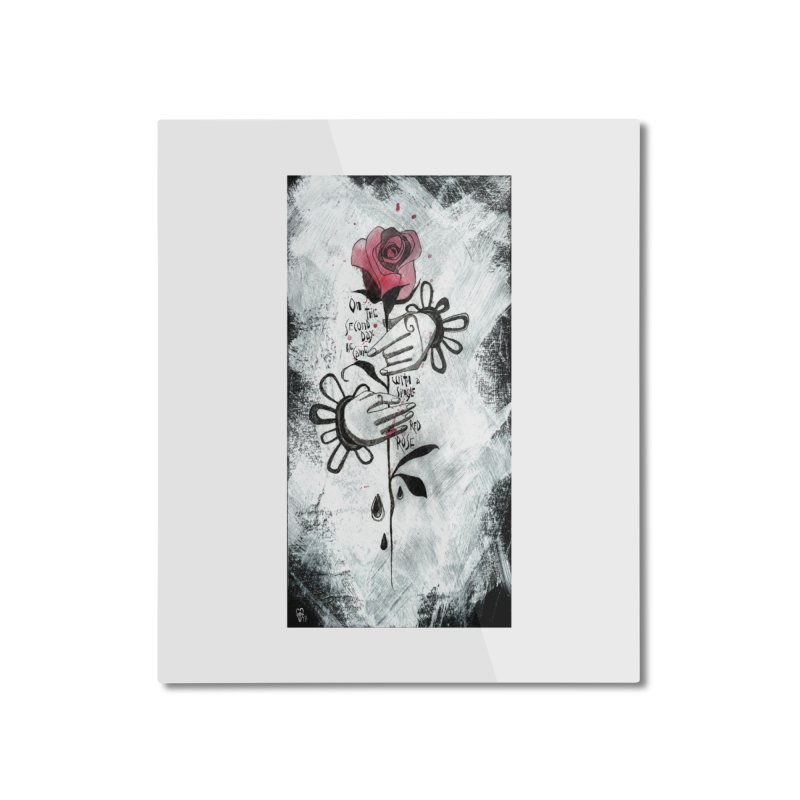 Wild Rose Home Mounted Aluminum Print by ilustramar's Artist Shop