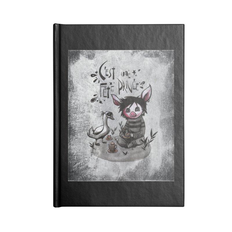 Fête privée Accessories Notebook by ilustramar's Artist Shop