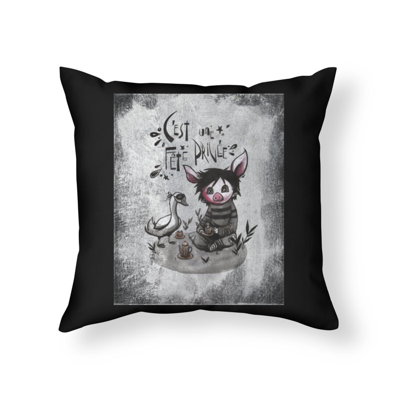 Fête privée Home Throw Pillow by ilustramar's Artist Shop