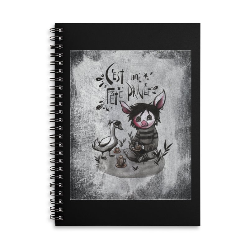 Fête privée Accessories Notebook by ilustramar's Artist Shop
