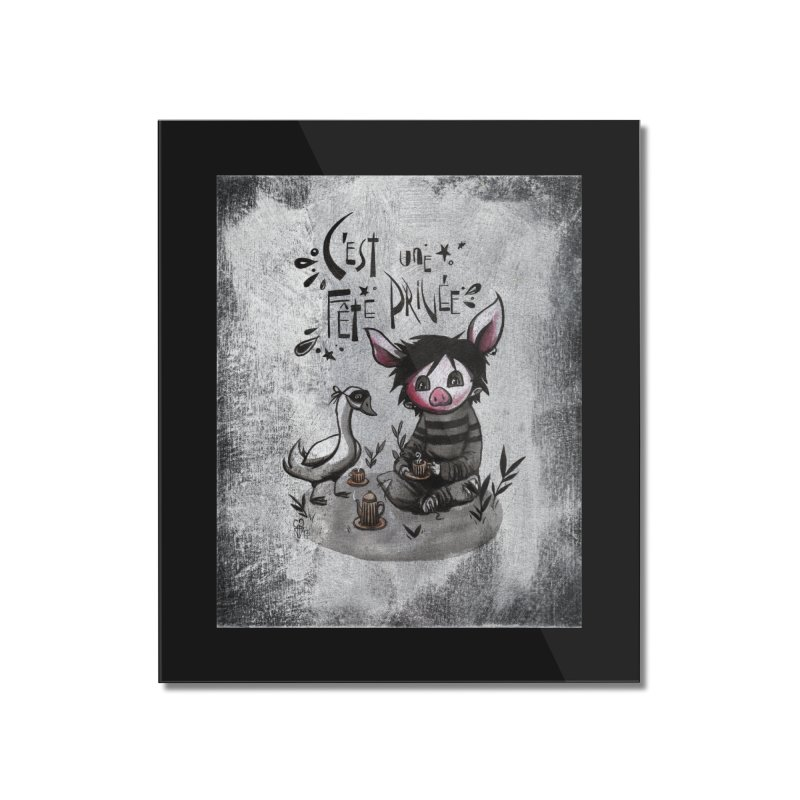 Fête privée Home Mounted Acrylic Print by ilustramar's Artist Shop