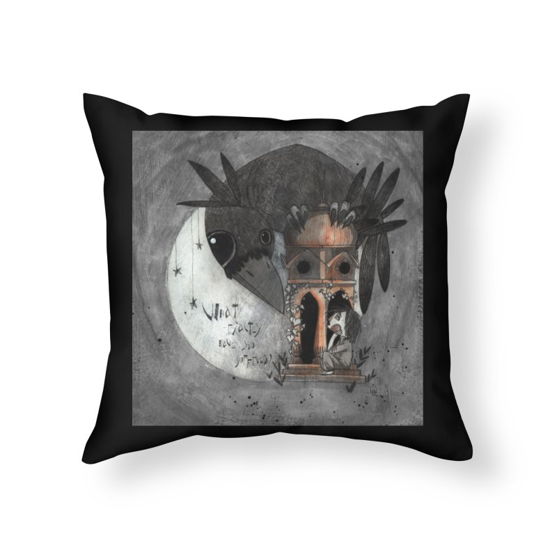 Strange news from another star Home Throw Pillow by ilustramar's Artist Shop
