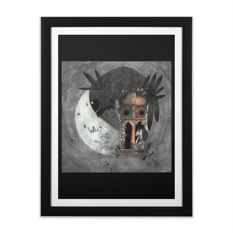 Strange news from another star Home Framed Fine Art Print by ilustramar's Artist Shop