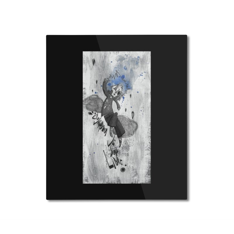 Libre Home Mounted Aluminum Print by ilustramar's Artist Shop