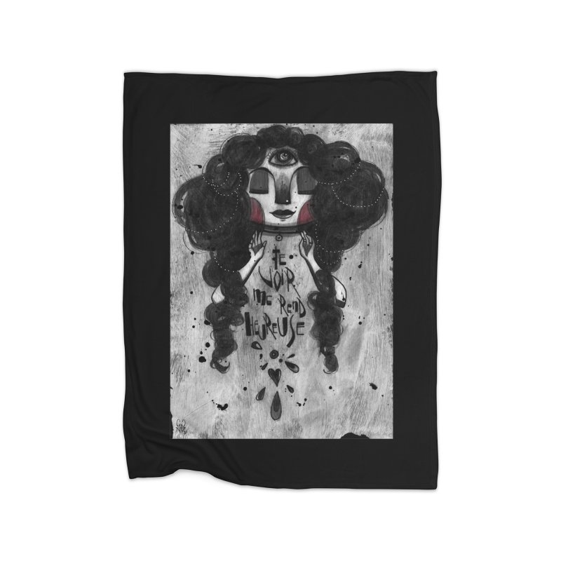 Heureuse Home Blanket by ilustramar's Artist Shop