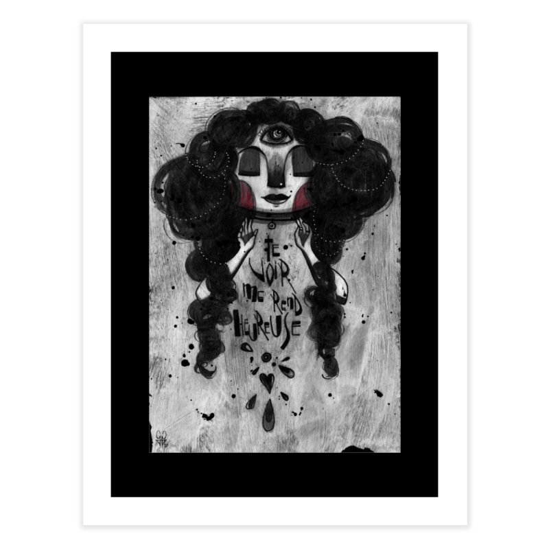 Heureuse Home Fine Art Print by ilustramar's Artist Shop