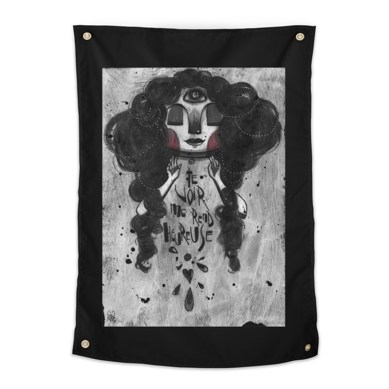 Heureuse Home Tapestry by ilustramar's Artist Shop