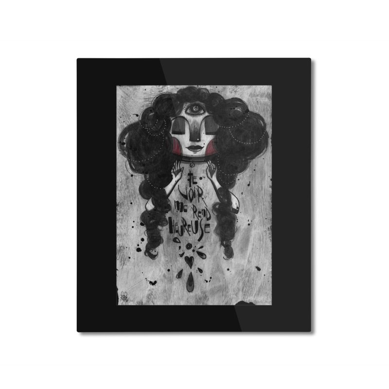 Heureuse Home Mounted Aluminum Print by ilustramar's Artist Shop