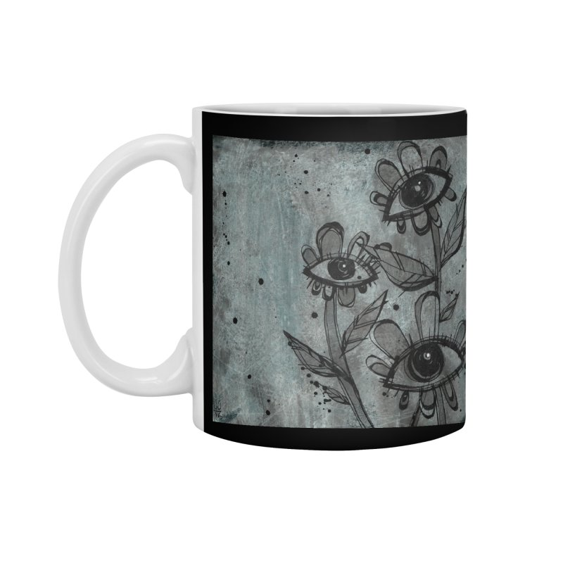 Flowers Accessories Standard Mug by ilustramar's Artist Shop