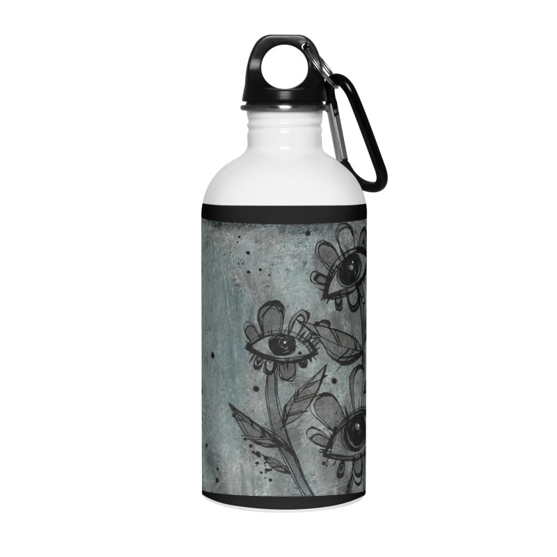 Flowers Accessories Water Bottle by ilustramar's Artist Shop