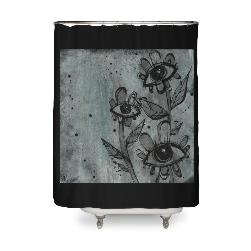 Flowers Home Shower Curtain by ilustramar's Artist Shop