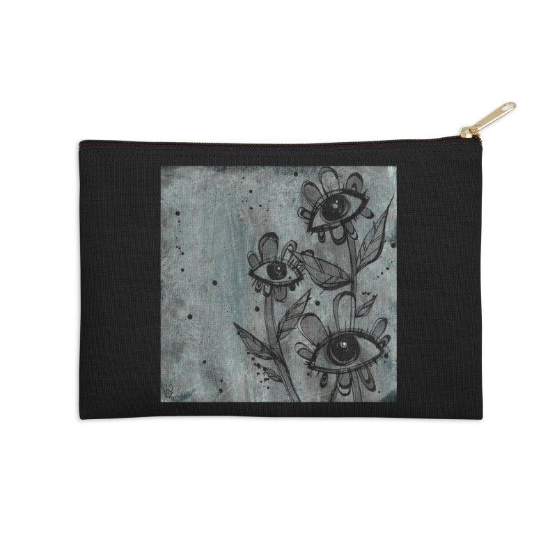 Flowers Accessories Zip Pouch by ilustramar's Artist Shop