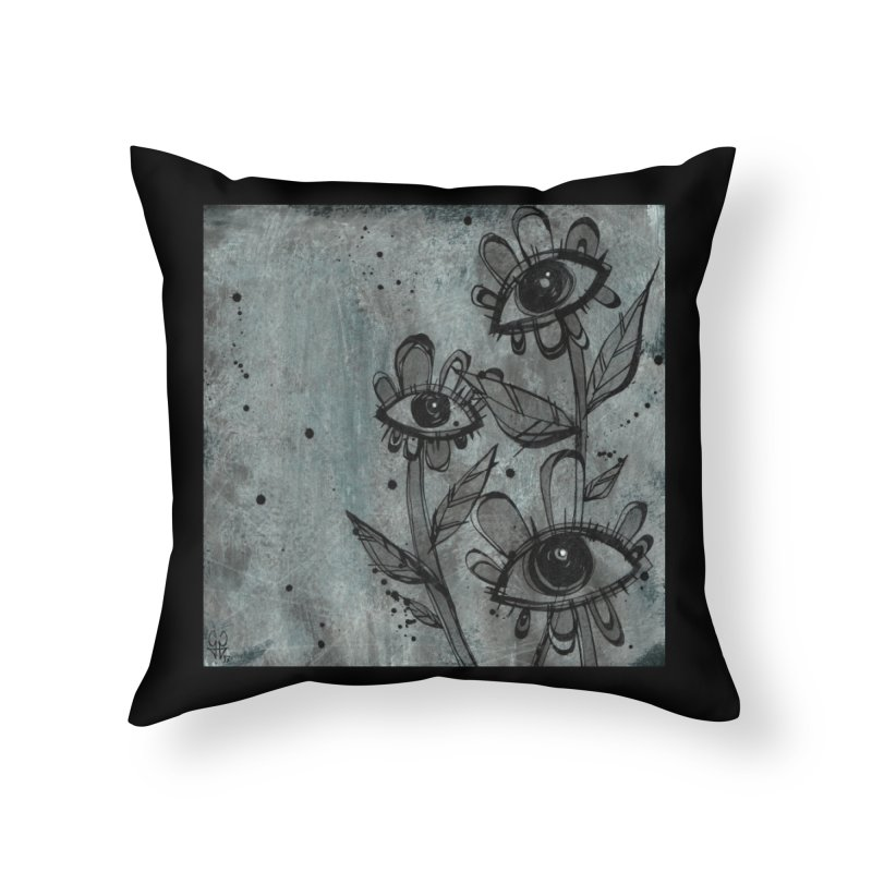 Flowers Home Throw Pillow by ilustramar's Artist Shop