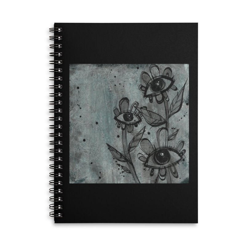 Flowers Accessories Lined Spiral Notebook by ilustramar's Artist Shop