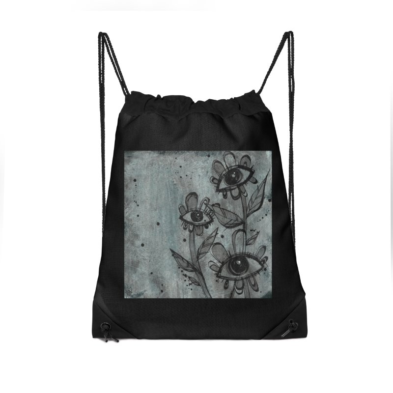 Flowers Accessories Drawstring Bag Bag by ilustramar's Artist Shop