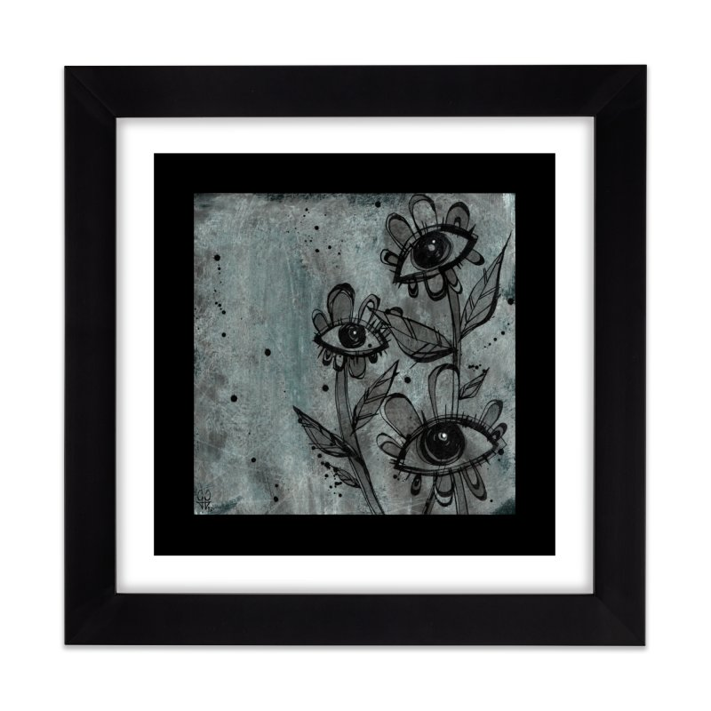 Flowers Home Framed Fine Art Print by ilustramar's Artist Shop