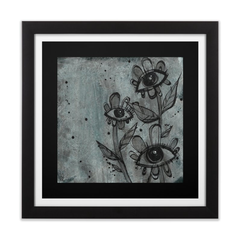 Flowers Home Framed Fine Art Print by ilustramar's Artist Shop