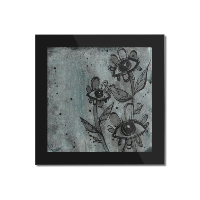 Flowers Home Mounted Acrylic Print by ilustramar's Artist Shop