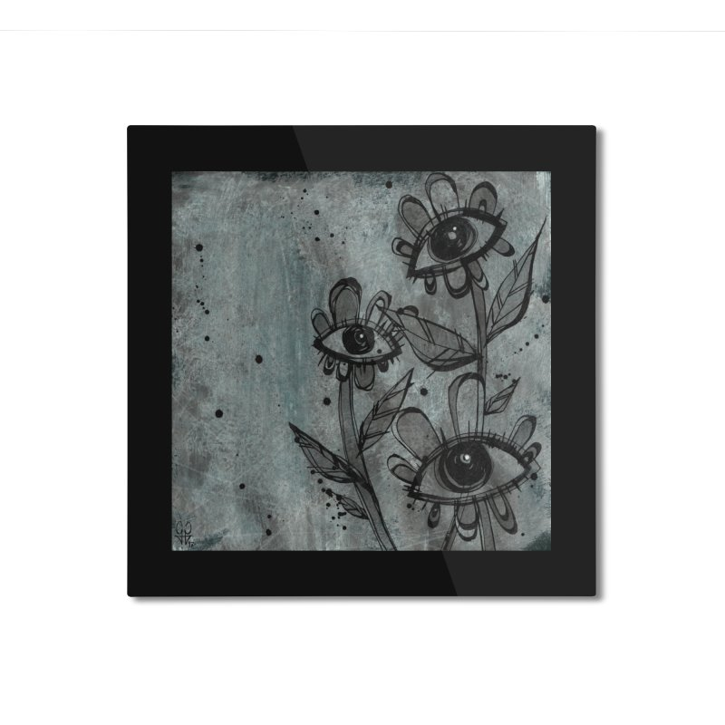 Flowers Home Mounted Aluminum Print by ilustramar's Artist Shop