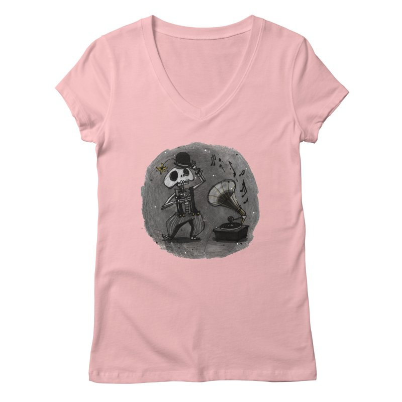 Dance! Women's Regular V-Neck by ilustramar's Artist Shop