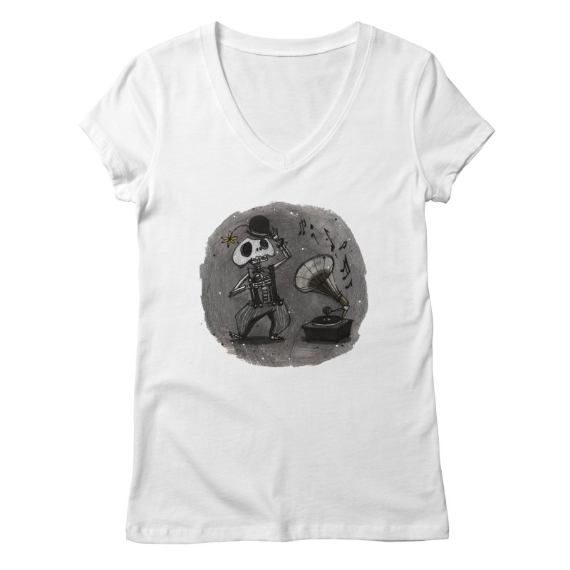 Dance! Women's V-Neck by ilustramar's Artist Shop