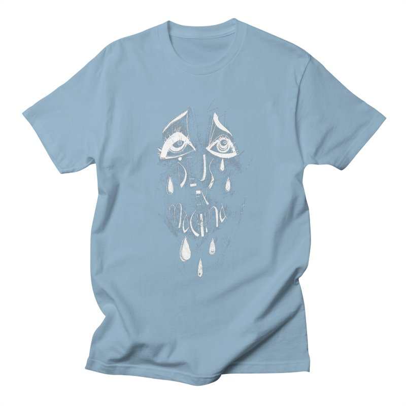 Deus ex Machina (white line) Men's T-Shirt by ilustramar's Artist Shop