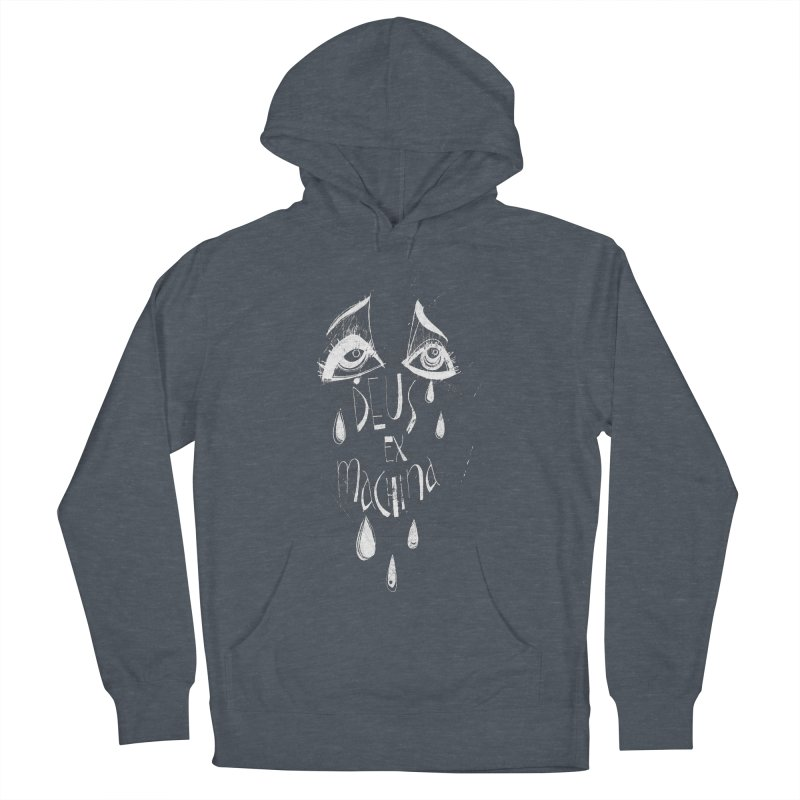 Deus ex Machina (white line) Women's French Terry Pullover Hoody by ilustramar's Artist Shop