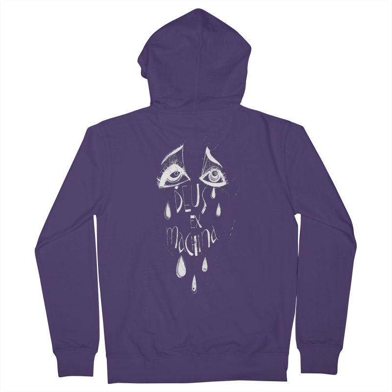 Deus ex Machina (white line) Women's French Terry Zip-Up Hoody by ilustramar's Artist Shop