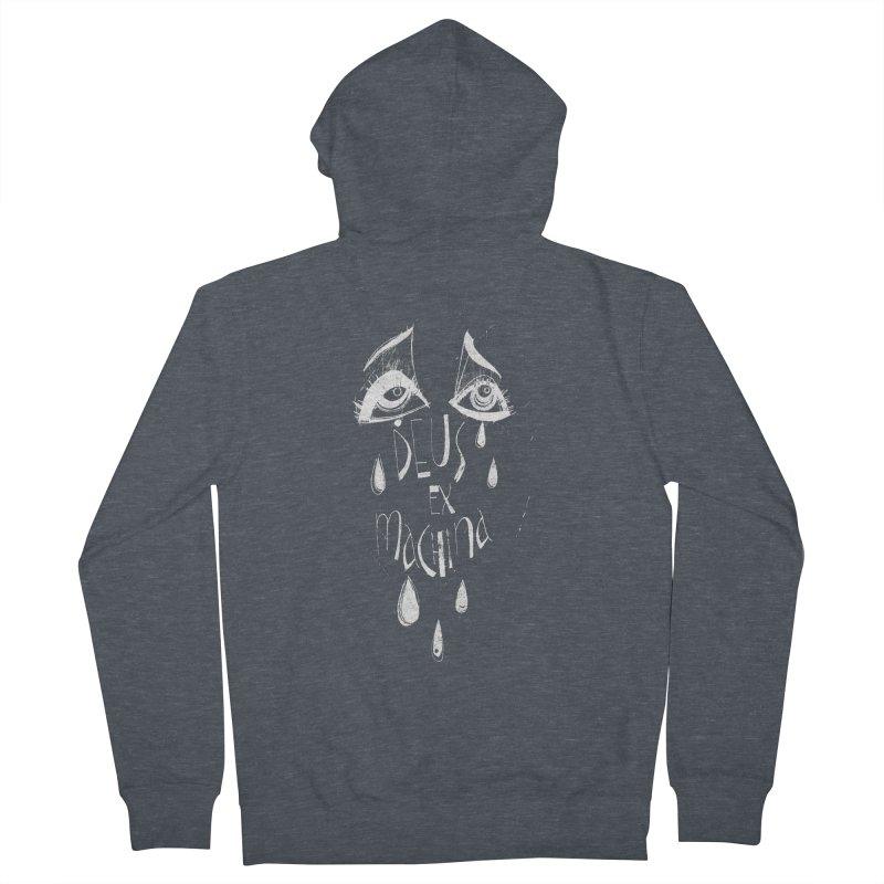 Deus ex Machina (white line) Men's French Terry Zip-Up Hoody by ilustramar's Artist Shop