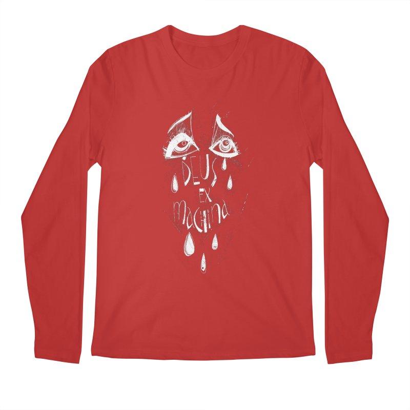 Deus ex Machina (white line) Men's Longsleeve T-Shirt by ilustramar's Artist Shop