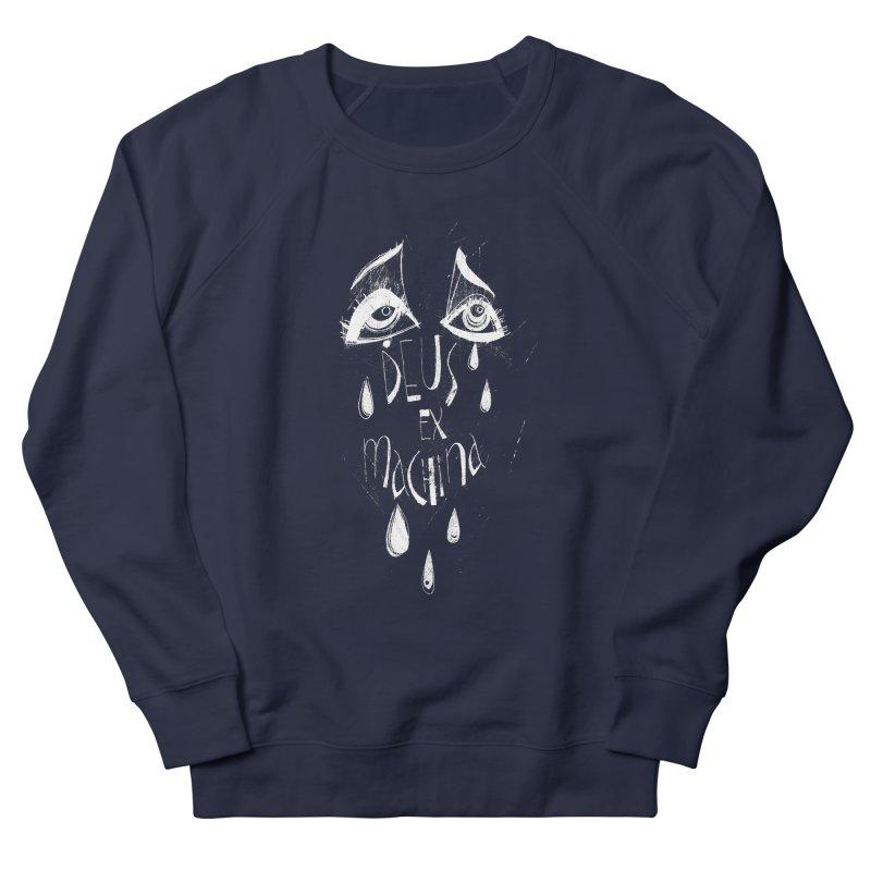 Deus ex Machina (white line) Men's Sweatshirt by ilustramar's Artist Shop