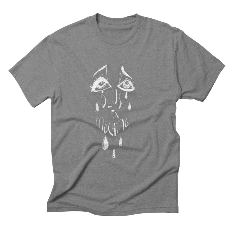 Deus ex Machina (white line) Men's Triblend T-Shirt by ilustramar's Artist Shop
