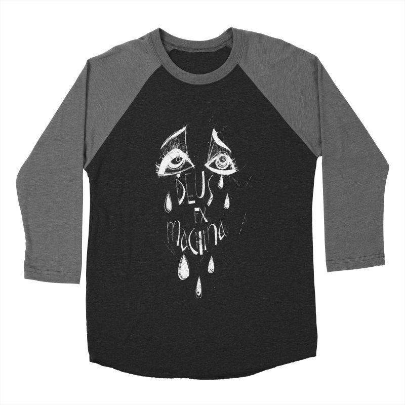 Deus ex Machina (white line) Men's Baseball Triblend Longsleeve T-Shirt by ilustramar's Artist Shop