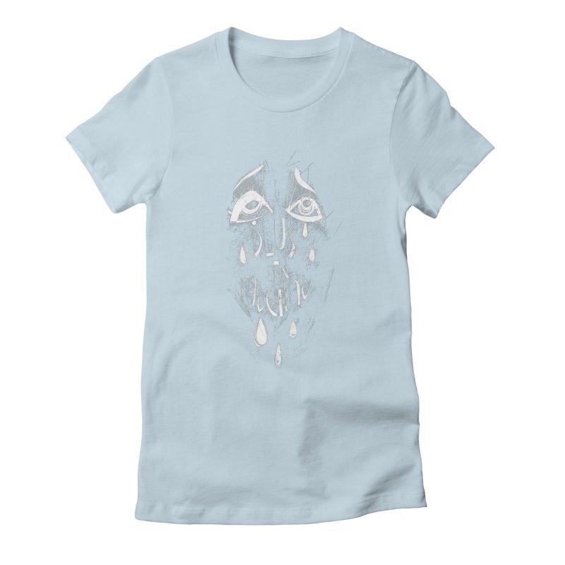 Deus ex Machina (white line) Women's Fitted T-Shirt by ilustramar's Artist Shop