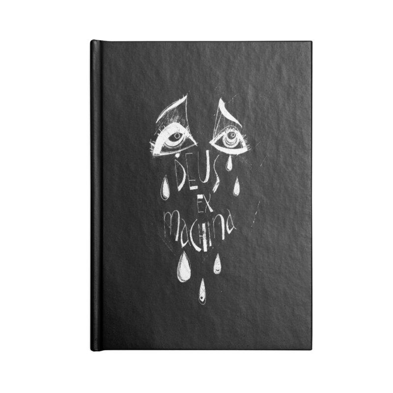 Deus ex Machina (white line) Accessories Notebook by ilustramar's Artist Shop