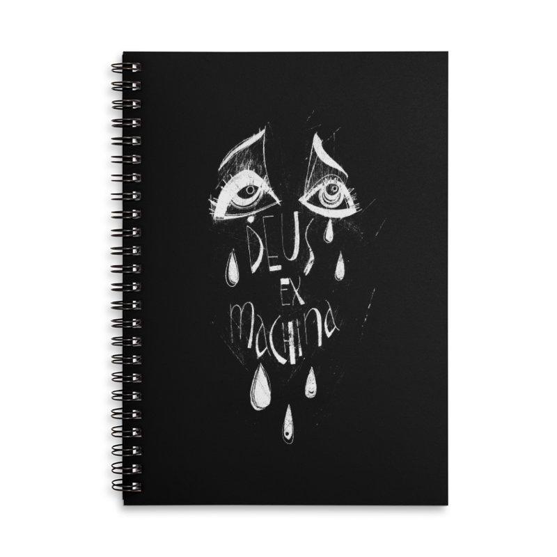 Deus ex Machina (white line) Accessories Lined Spiral Notebook by ilustramar's Artist Shop