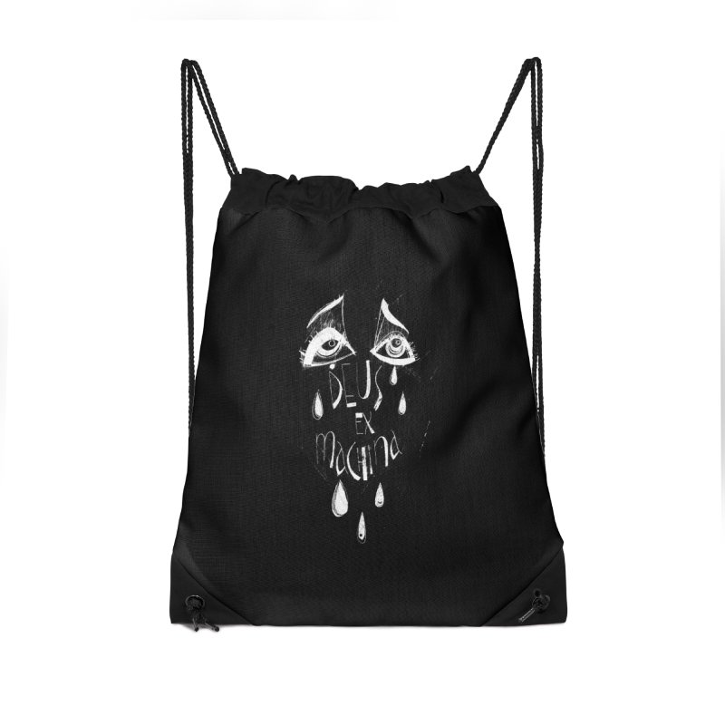 Deus ex Machina (white line) Accessories Drawstring Bag Bag by ilustramar's Artist Shop