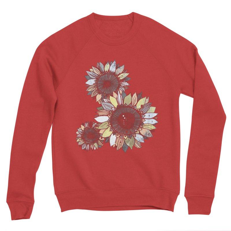 Sunflowers (Black) Women's Sponge Fleece Sweatshirt by ilustramar's Artist Shop