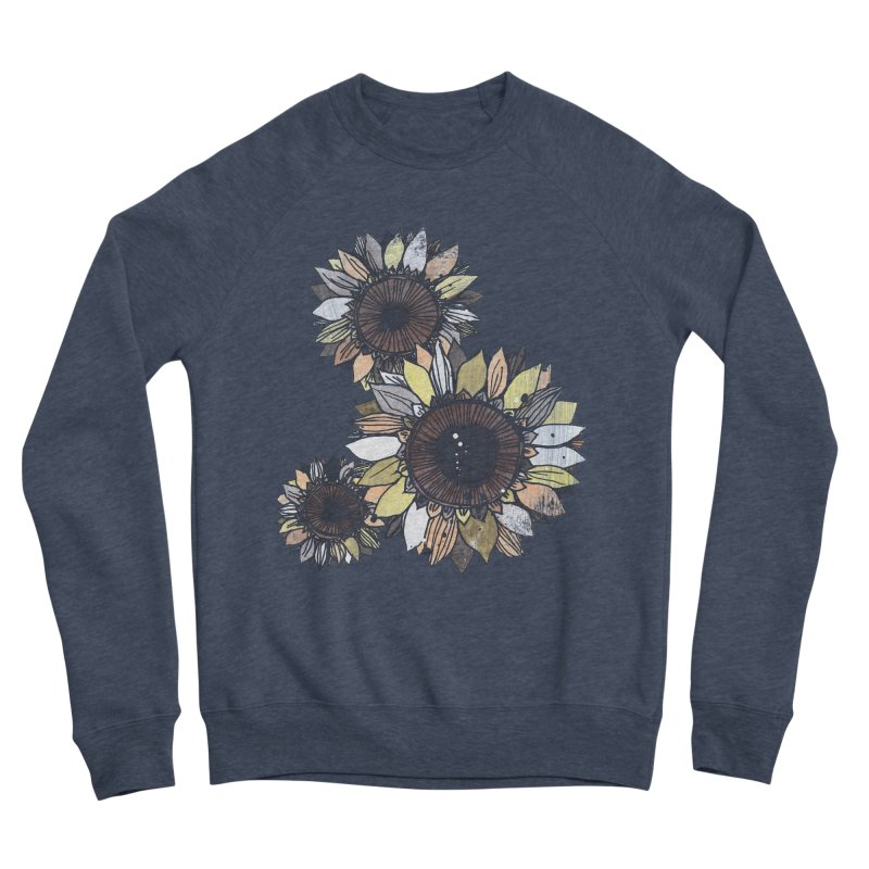 Sunflowers (Black) Men's Sponge Fleece Sweatshirt by ilustramar's Artist Shop