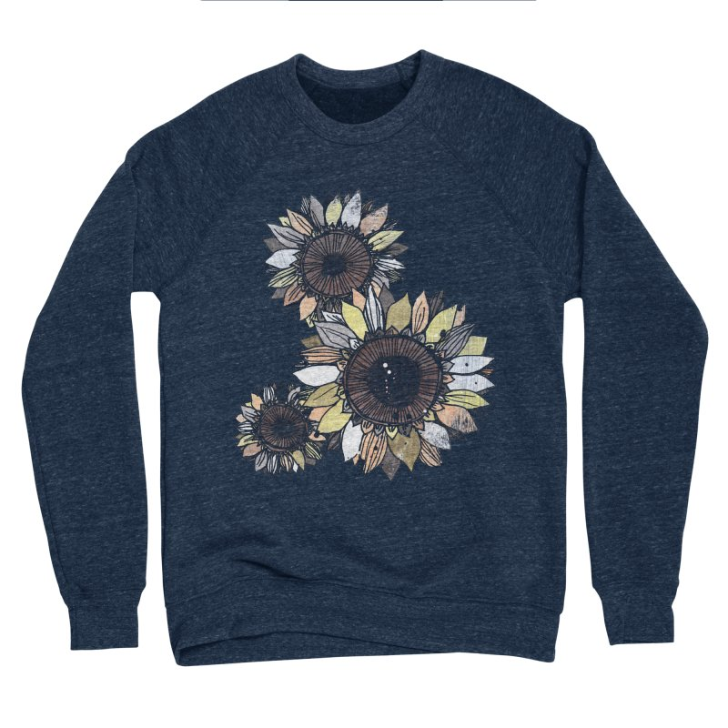 Sunflowers (Black) Men's Sponge Fleece Sweatshirt by ilustramar's Artist Shop