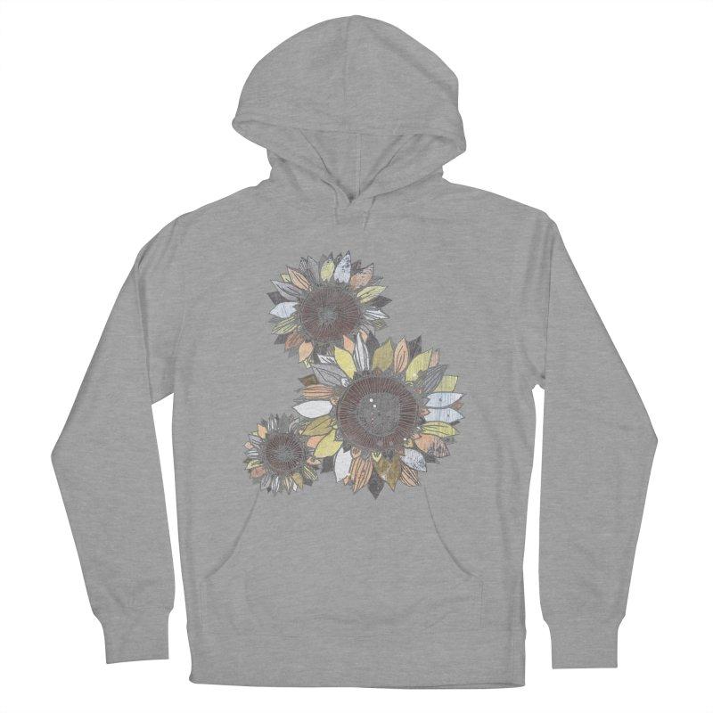 Sunflowers (Black) Women's Pullover Hoody by ilustramar's Artist Shop