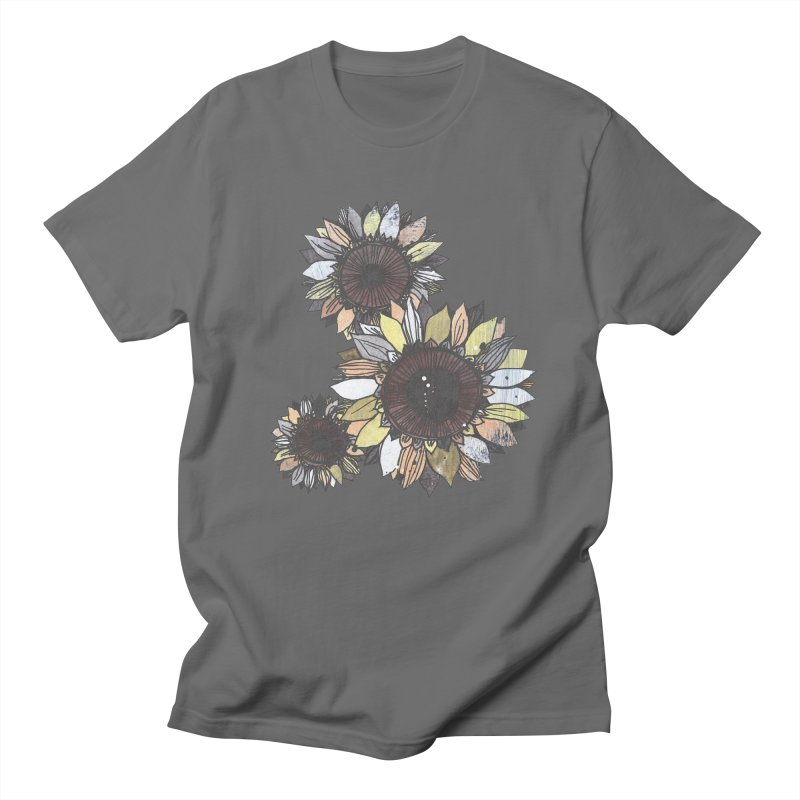 Sunflowers (Black) Men's T-Shirt by ilustramar's Artist Shop