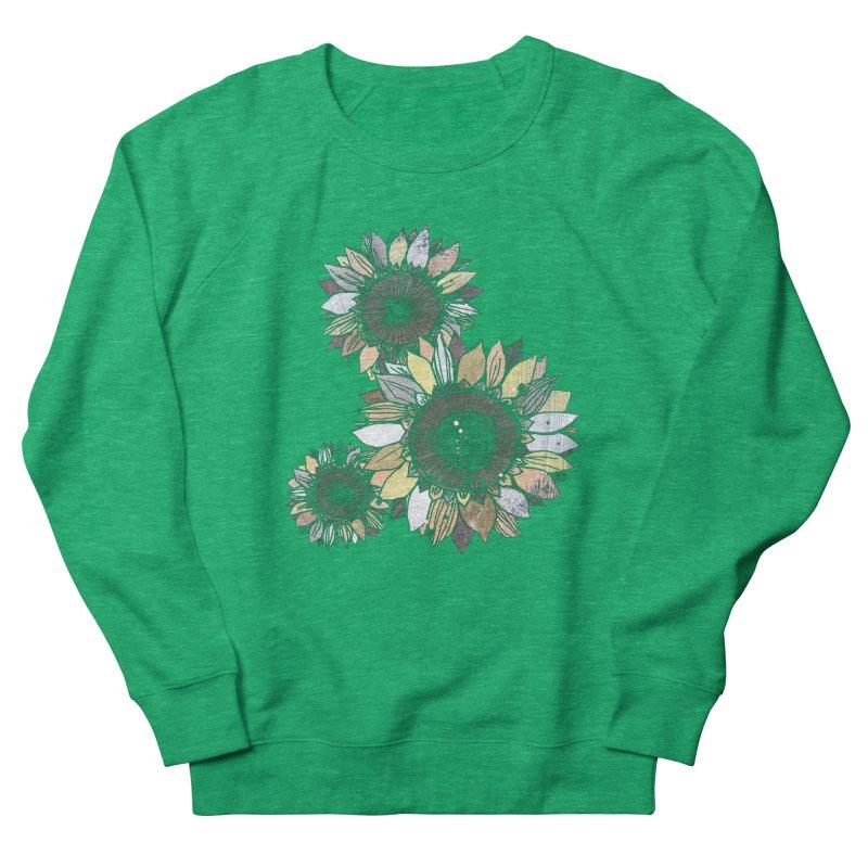 Sunflowers (Black) Women's Sweatshirt by ilustramar's Artist Shop