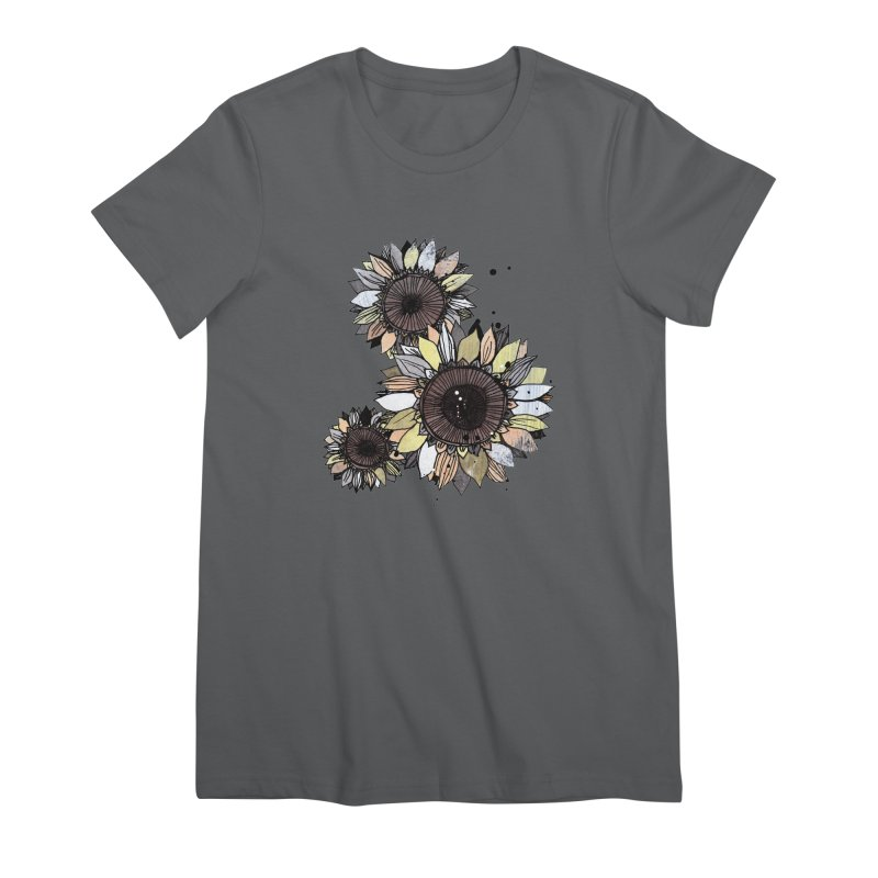 Sunflowers (White) Women's T-Shirt by ilustramar's Artist Shop