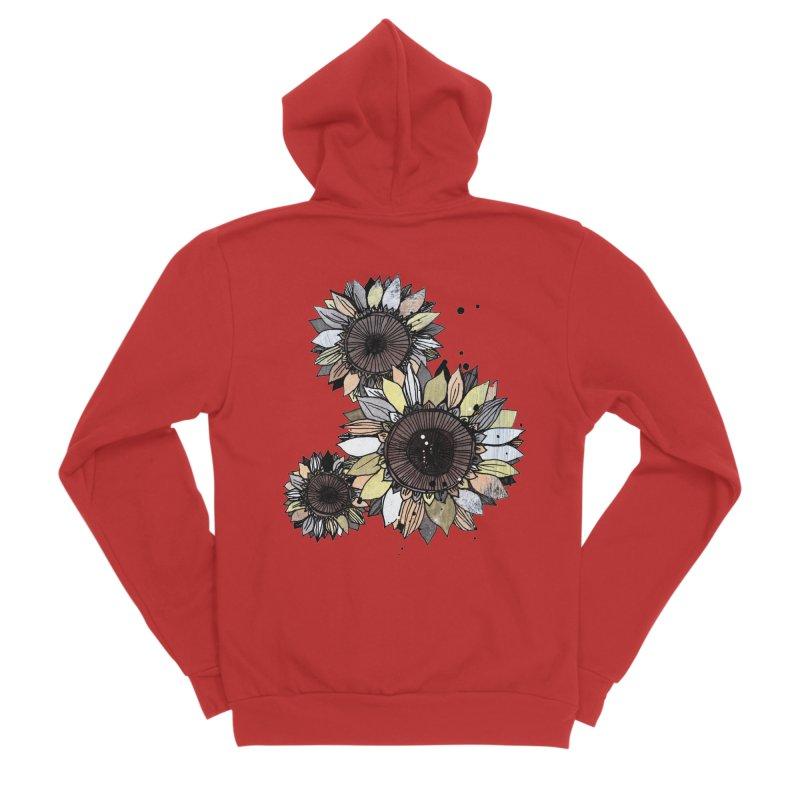 Sunflowers (White) Women's Zip-Up Hoody by ilustramar's Artist Shop