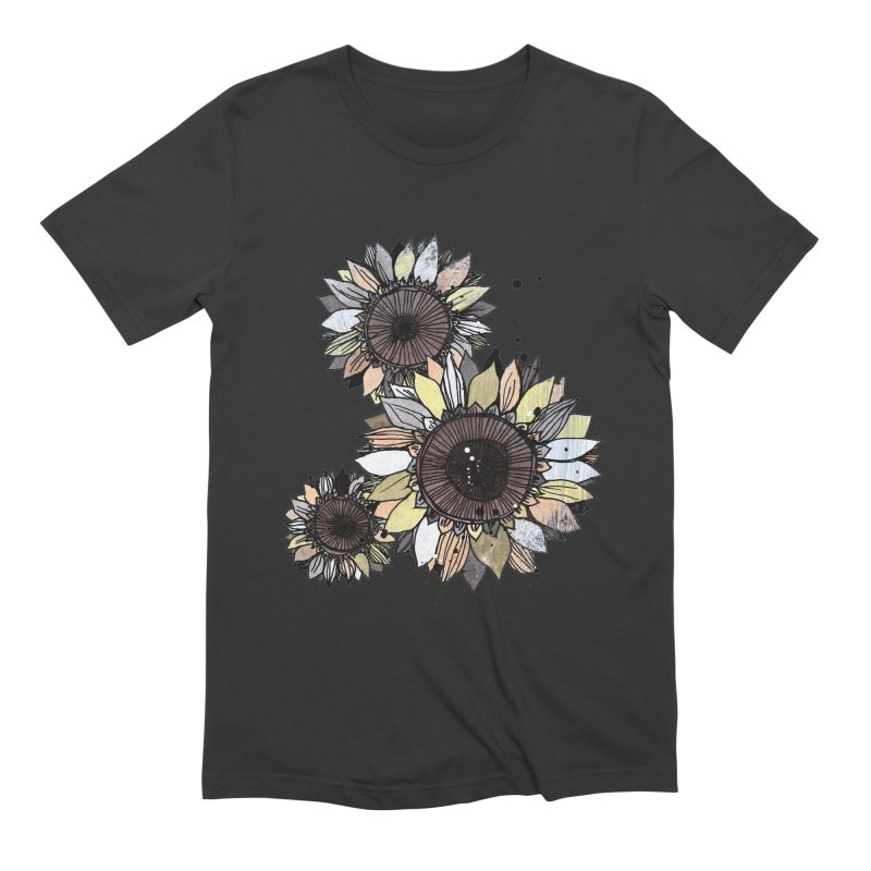 Sunflowers (White) Men's Extra Soft T-Shirt by ilustramar's Artist Shop
