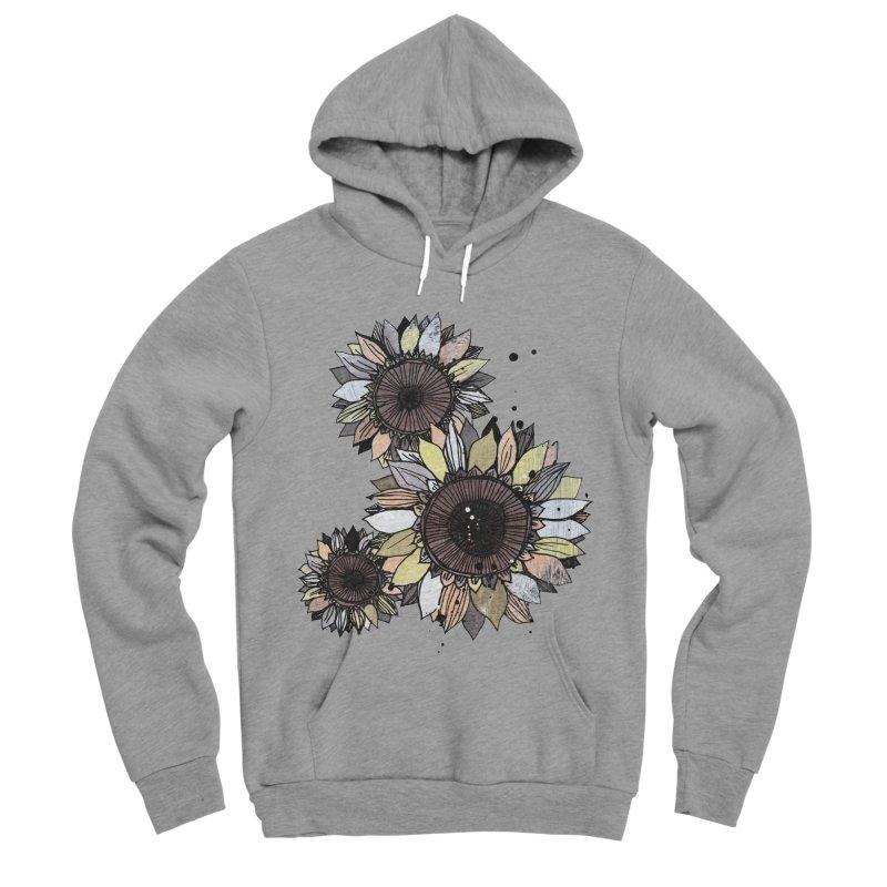 Sunflowers (White) Women's Sponge Fleece Pullover Hoody by ilustramar's Artist Shop