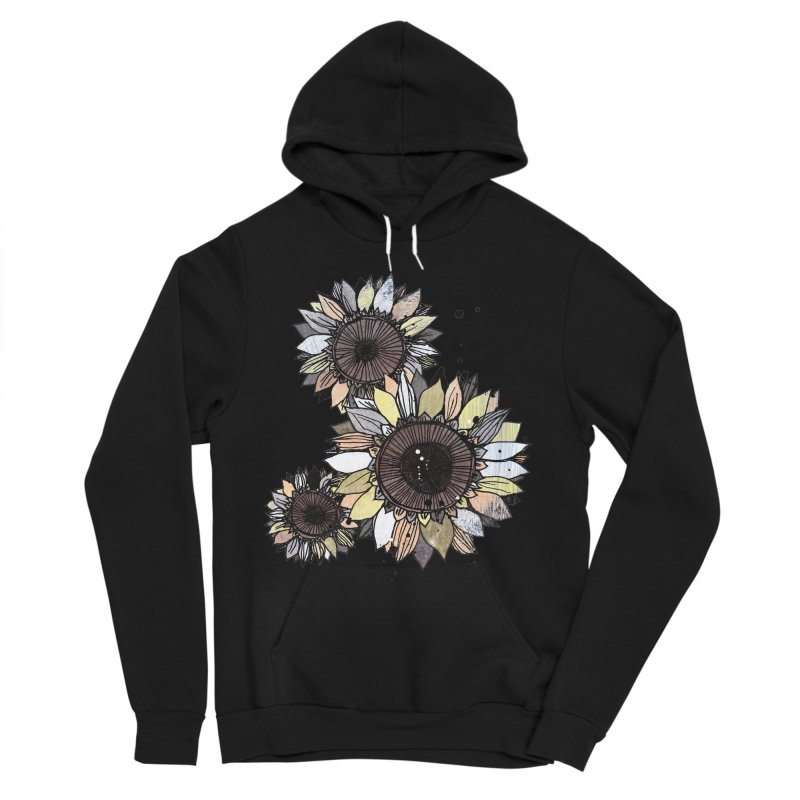 Sunflowers (White) Men's Sponge Fleece Pullover Hoody by ilustramar's Artist Shop
