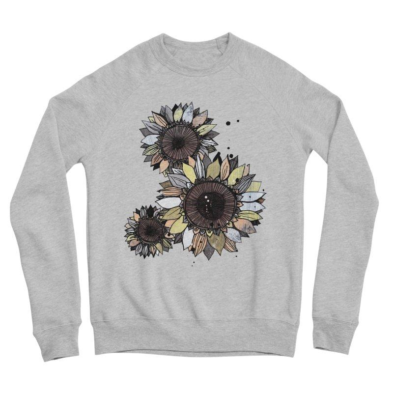 Sunflowers (White) Men's Sponge Fleece Sweatshirt by ilustramar's Artist Shop